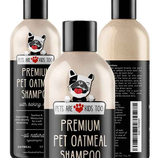 Premium Pet Oatmeal Shampoo – Pets are Kids too